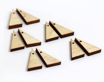 6 Right Triangle Blank Beads : Maple Plywood