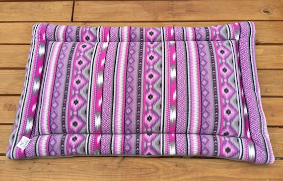 Southwestern Dog Bed, Purple Dog Bed, Big Puppy Bedding, Large Crate Pad, Large Breed Dogs, 30x48, Travel Pet Bed, Western Decor, Big Dogs