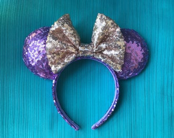 Rapunzel Sequin Minnie Mouse Ears