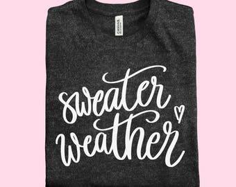 Sweater Weather | Deep Heather Grey Tee