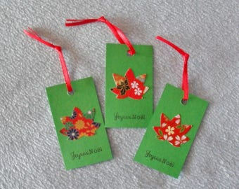 Set 3 Japanese paper 6 Christmas gift tags