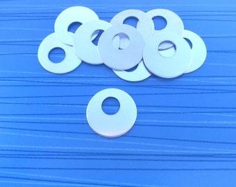 Offset washer blanks 1 inch Aluminum washers Stamping blanks Metal stamping blanks wholesale Engraving blanks Washers for stamping