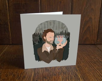 The Walking Dead - Rick Grimes 'Coral' Greeting Card