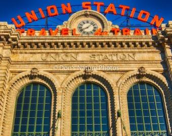Union Station, Denver, Colorado. Solid black wrap. #2140