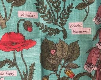 lovely Dunmoy 2820 irish linen Tea Towel wild flowers