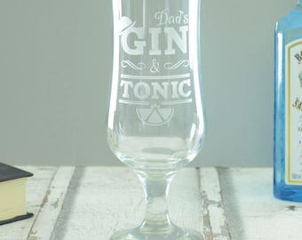 Gin And Tonic Personalised Glass