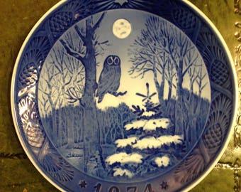 Royal Copenhagen Porcelain Plate - Winter Twilight - 1974