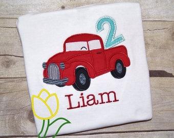 Vintage Pickup Truck Birthday Baby Bodysuit Toddler Shirt