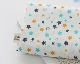 Little Stars Pattern Digital Printing Cotton Fabric by Yard - White Ivory