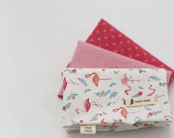 Flamingo - Quarter Fabric Pack 3 Fabric 1set - Sets for 3 each 45 X 55 cm