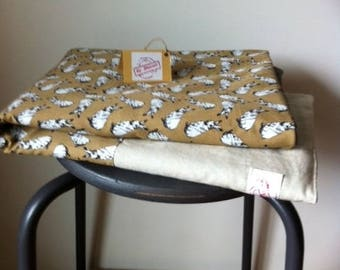 black and white Bunny baby blanket-