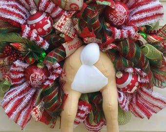 Rain Deer Christmas Wreath Door Hanger Home Decor