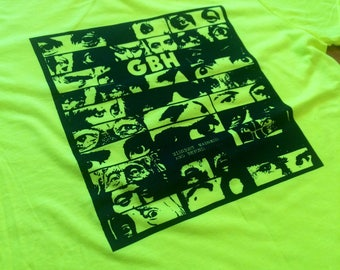 L Charged GBH Midnight Madness and Beyond... highlighter yellow tshirt
