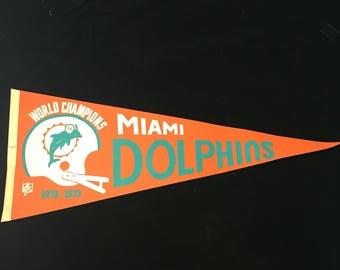 1972 Miami Dolphins pennant