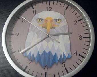 clock wall pattern Eagle design