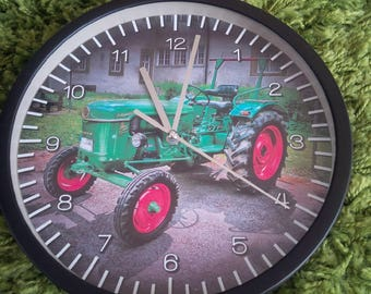 clock wall pattern old tractor deutz