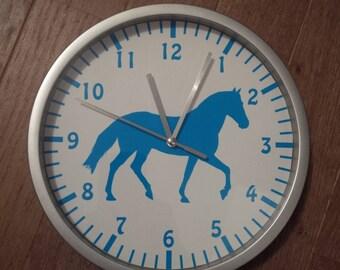 clock wall decor blue