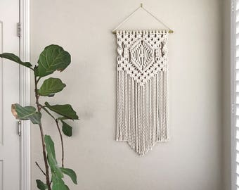 Macrame Patterns/Macrame Pattern/ Macrame Wall Hanging Pattern/Wall Hanging/Modern Macrame/Pattern/DIY/Name: Center Diamond