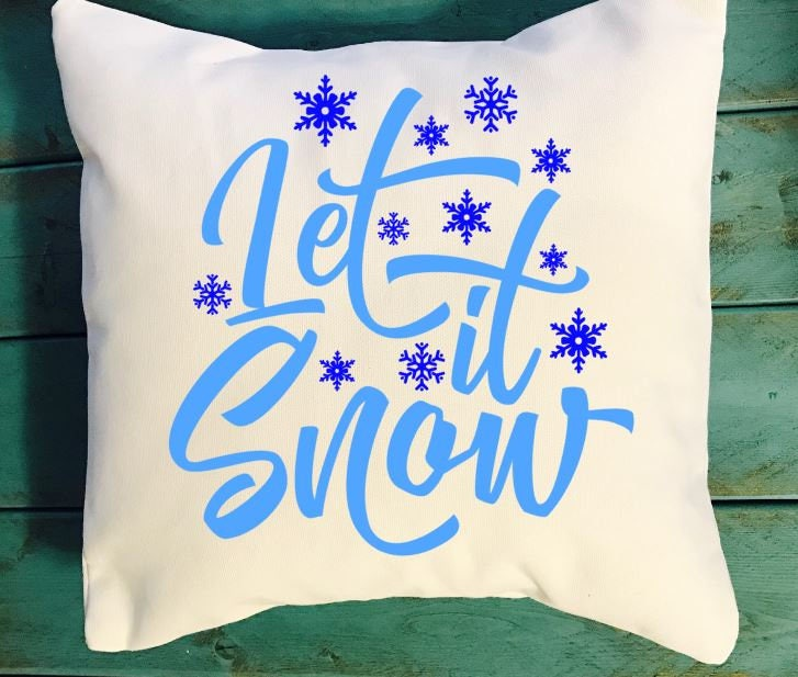 Let it snow throw pillow Let it snow cushion winter home decor