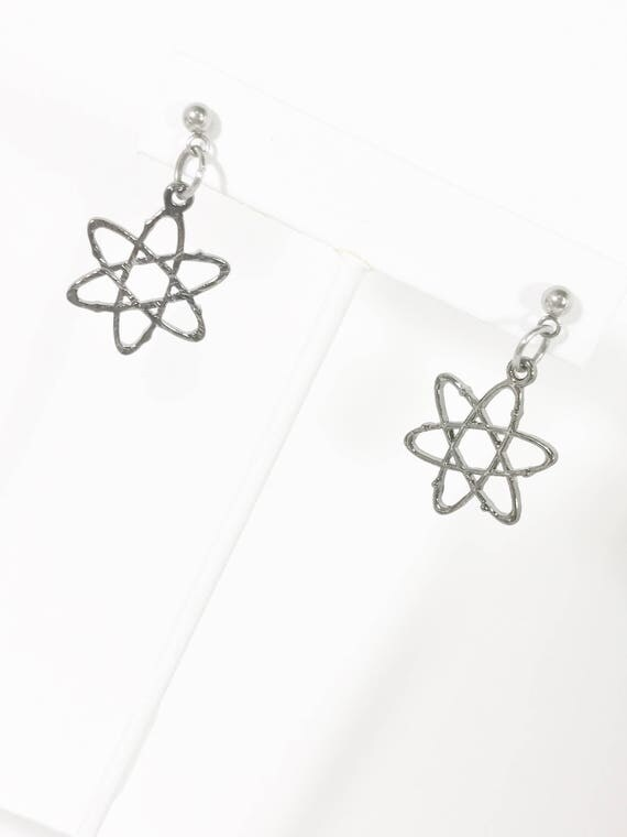 Molecule Earrings, Atom Earrings, Nerd Gifts, Science Lover Gifts, Atom Jewelry, Molecule Jewelry, Nerd Jewelry Gift, Nerdy Jewelry