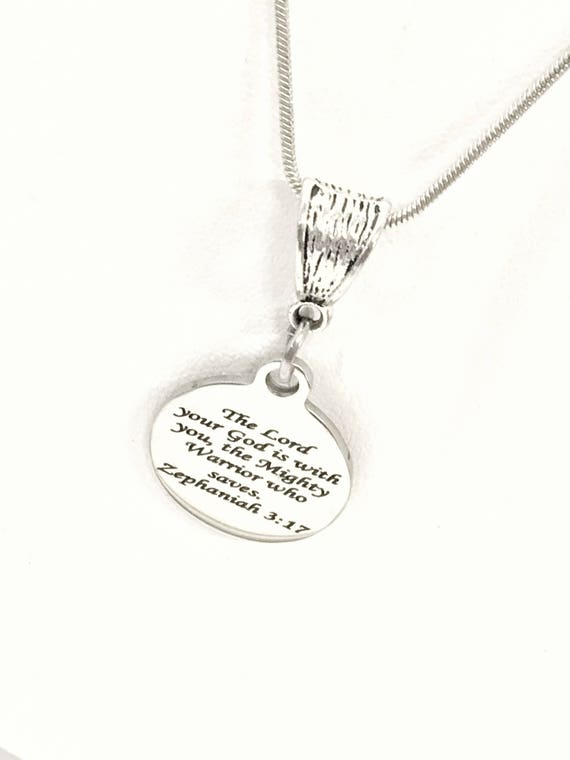 Scripture Jewelry, Faith Gifts, The Lord Is With You Necklace, Scripture Gifts, Christian Jewelry, Scripture Necklace, Zeph Jewelry Gifts