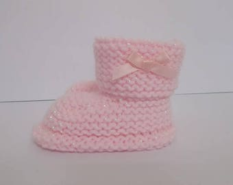 Hand Knitted Baby Booties, Baby Booties, Baby Slippers, Baby Shoes, Baby Shower Gift, Baby Crib Shoes, Baby Boots, New Baby Gift