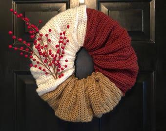 Indoor Crochet Wreath
