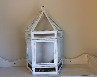 Shabby Chic Terrarium Decor