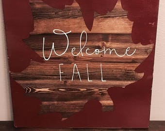 Fall sign welcome