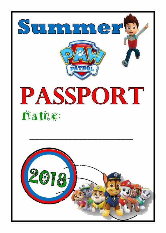 Paw Patrol Summer Guided Journal Vacation Childrens