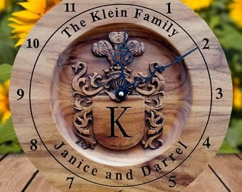 Personalized Family Name Sign Wedding Gift For Couple Bridal Shower Gift Engagement Gift Wedding Gift Sign Gift For Bride Groom Clock Decor