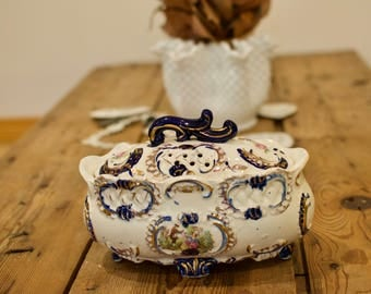 Royal Grace Hand painted Footed Tureen Made in Japan, Birthday, Christmas, Wedding or Housewarming Gift