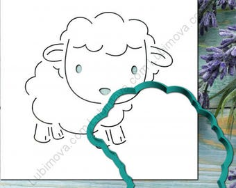 "Cookie Cutter+Stencil ""Sheep number 2"""