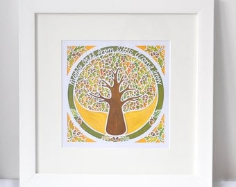 Mighty Oaks Square Giclee Print