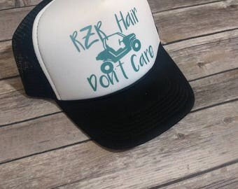 RZR Hair Dont Care Trucker Hat, Womens Mesh Back Hat with Razor