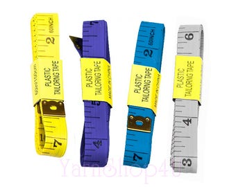 """Tape Measure - Flexible Plastic Tape Measure. 60"""" long (152.4cm). One side has Inches with 1/16 marks and the other cm / mm measurements."""