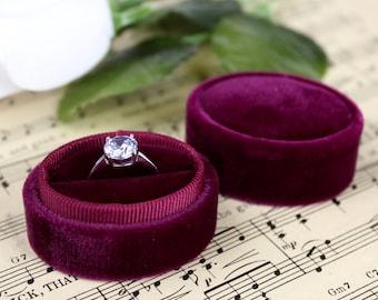 Wedding Ring Box in Burgundy Great for Wedding Gift, Fall Wedding or Bridesmaid Gift