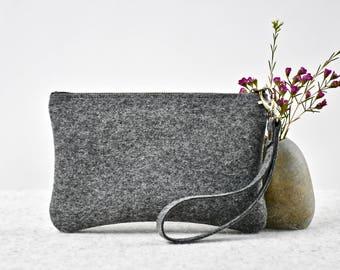 Minimalist Felt Bag, Minimalist Wallet, Wool Felt Purse, Felt Clutch, Felt Handbag, Handmade with Wool, Wool Purse
