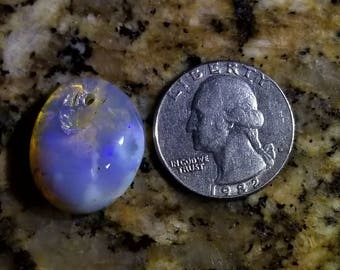 20ct Natural Australian Lightning Ridge Crystal Opal Gemstone, Glass Polished and Shaped for jewelry projects or gift ideas