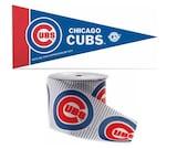 "2.5"" MLB Chicago Cubs Band, 9 Füße & Mini Wimpel, lizenziert MLB Offray Band"
