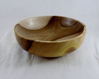 Turned wooden bowl -739