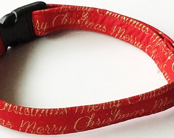 Merry Christmas Dog and Cat Collar