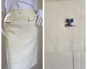 Vintage Courrèges Paris skirt size 64-91 Small