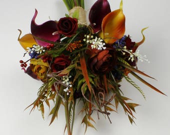 Fall wedding bouquet etsy free shipping autumn wedding bouquet boho wedding country wedding bouquet bridal bouquet vintage bouquets fall wedding junglespirit Image collections