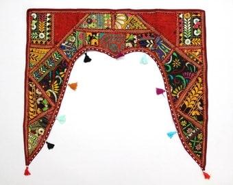 Handmade Window Door Valance Interior Decor Ethnic Gypsy Hippy Hippie Toran Pelmet Topper Drapery Top Hanging Tent Bohemian Art L892