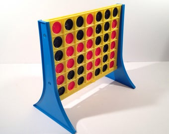 Vintage Connect Four Vertical Checkers Game by Milton Bradley offered by Crafts by the Sea