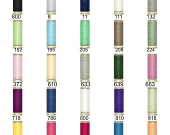 Gutermann Sew All thread, White, ivory, red, blue, green, grey, purple, yellow, lime green, black CA02776, 100m 110 yards