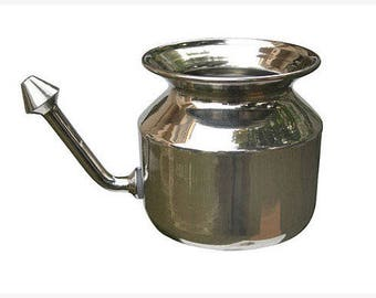 Stainless Steel Neti Pot - Nasal Cleansing Pot - Sinus Relief