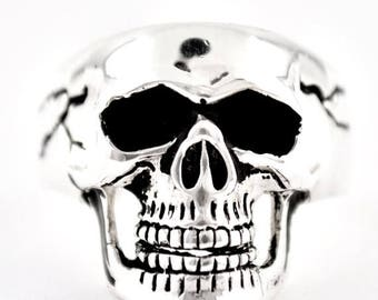 Summer CLEARANCE Sterling Silver 925 Skull Ring Made in USA