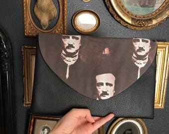 Edgar Allan Poe Clutch By Preciously Mine - Handmade
